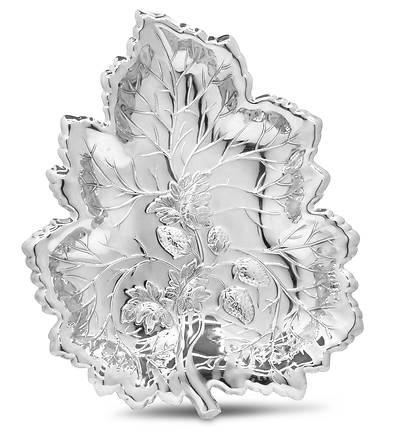 Strawberry Leaf Gift Tray - Silverplate