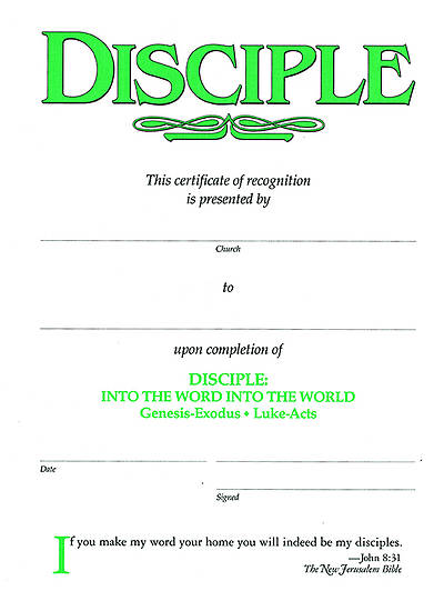Disciple II Into the Word Into the World: Certificates (Package of 6)