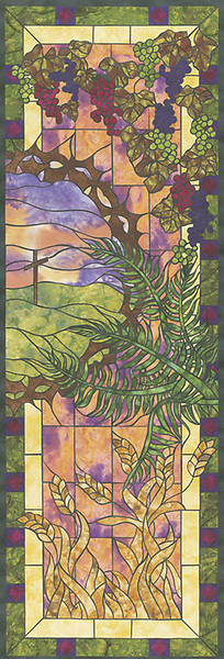 Stained Glass Easter Right-view Banner 2 X 6