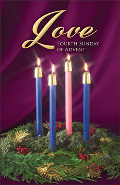 Love Fourth Sunday of Advent Candle Wreath Regular Size Bulletin
