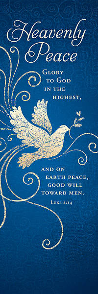 Heavenly Peace Christmas Bookmark