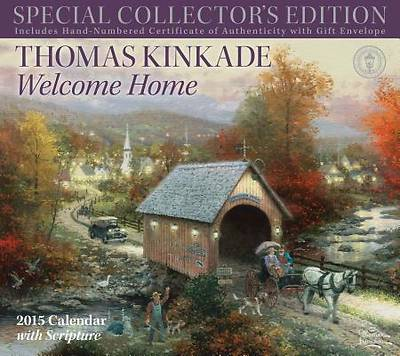 Thomas Kinkade Special Collectors Edition with Scripture 2015 Deluxe Wall Calen