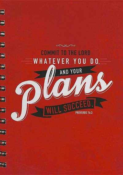 Journal - Large Wirebound - Red Your Plans Will Succeed