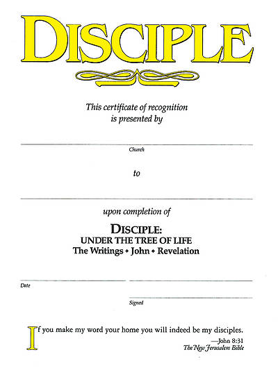 Disciple IV Under the Tree of Life: Certificates (Pkg of 6)