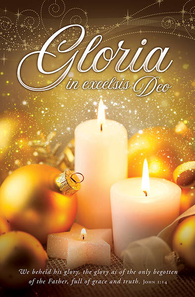 Gloria In Excelsis Deo Christmas Regular Size Bulletin