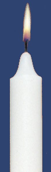 Stearic Altar Candle 11 x 1 1/8 Plain End (Carton of 12)