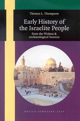 Early History of the Israelite People