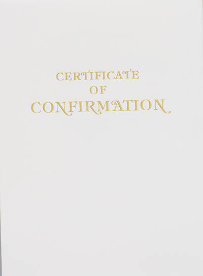 Contemporary Steel-Engraved Confirmation Certificate