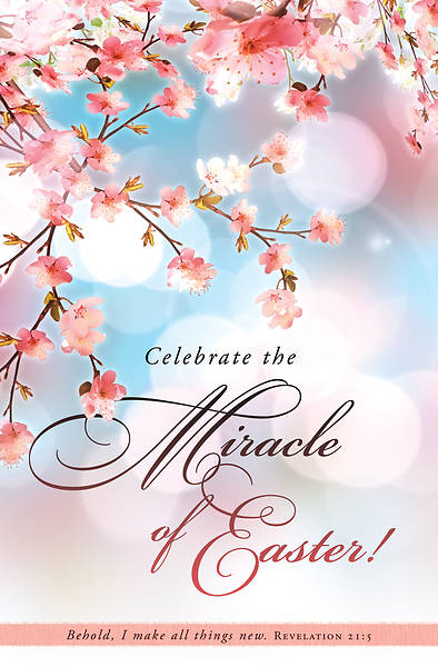 Celebrate the Miracle of Easter Regular Size Bulletin