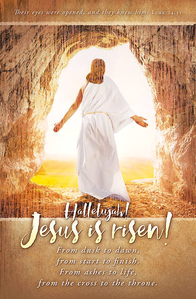 Jesus is Risen Easter Regular Size Bulletin