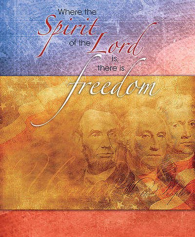 Where the Spirit of the Lord is, There is Liberty Patriotic Legal Size Bulletin