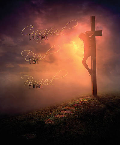 Crucified Died Buried Jesus Good Friday Legal Size Bulletin