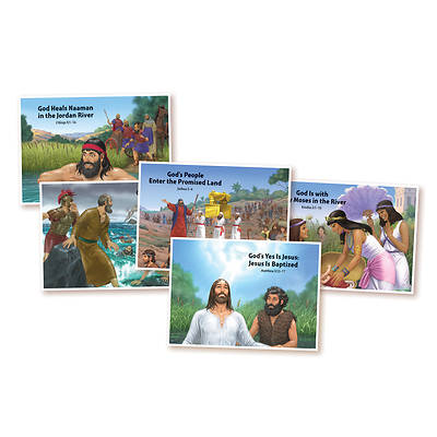 Vacation Bible School (VBS) 2018 Splash Canyon Bible Story Posters (22 x 17) - Set of 5