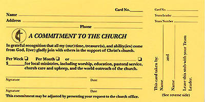 A Commitment To The Church Pledge Card (Pkg of 100 ...