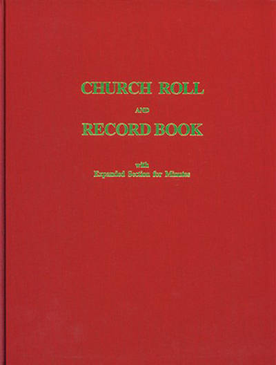Church Roll And Record Book