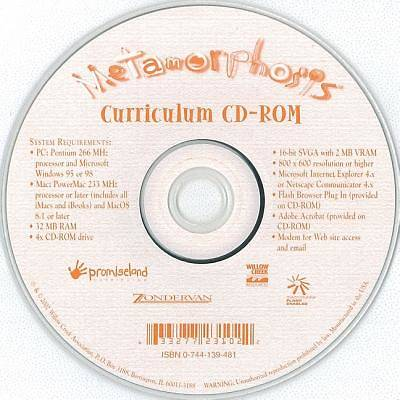 Metamorphosis Individual Curriculum CD-ROM