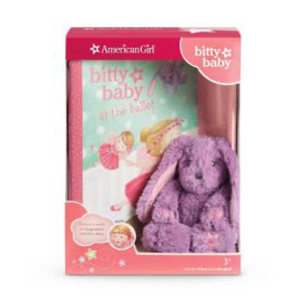 Bitty Babys Mini Bunny & Book [With Bitty Baby at the Ballet]