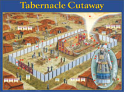 Tabernacle Cutaway Wall Chart - Laminated