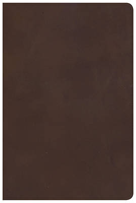 KJV Large Print Personal Size Reference Bible, Brown Genuine Leather, Indexed