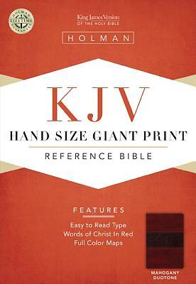 KJV Large Print Personal Size Reference Bible, Mahogany LeatherTouch, Thumb-Indexed