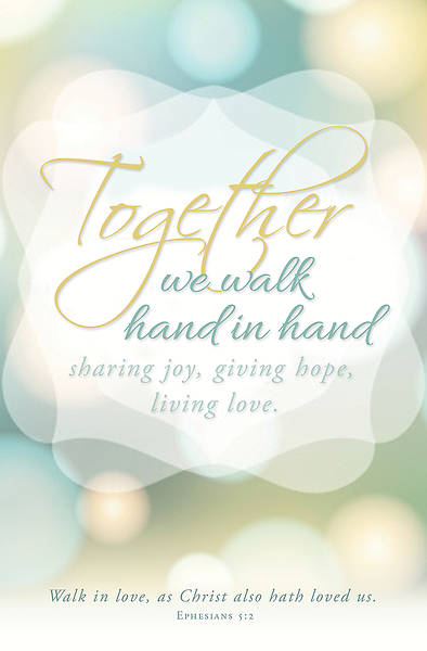 Wedding Bulletin - Hand in Hand - Ephesians 5:2 (Pkg 100)