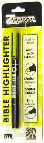 Zebrite Double Ended Highlighter - Yellow