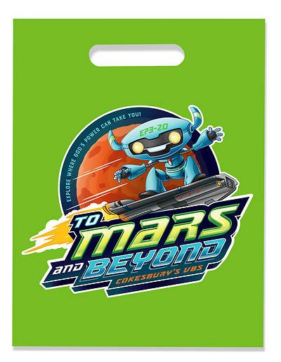 Vacation Bible School (VBS) 2019 To Mars and Beyond VBS Logo Bags (Pkg of 24)