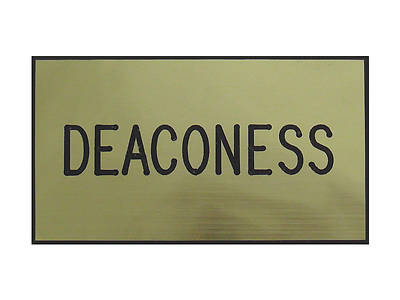 Gold and Black Deaconess Clip-On Badge