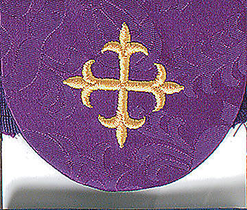Purple Pocket Usher Badge with Cross - Package of 4