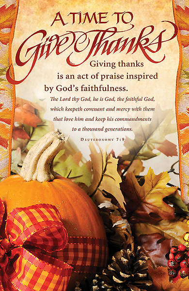 A Time To Give Thanks Thanksgiving Bulletin Regular (Package of 100)