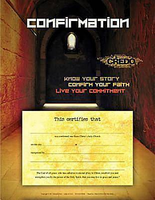 Credo Confirmation Certificate (Package of 6)