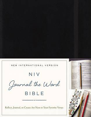 NIV, Journal the Word Bible, Hardcover