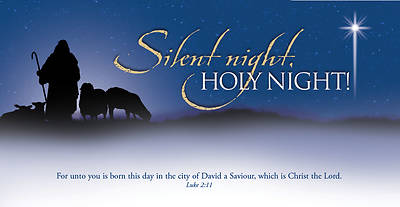 Silent Night Christmas Offering Envelope (Package of 100)