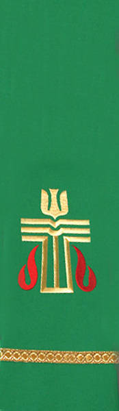 Green Presbyterian Liberty With Gold Braid Stole