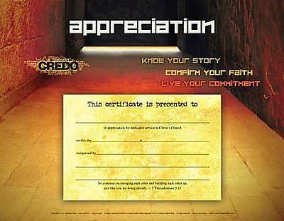 Credo Confirmation Appreciation Certificate (Package of 6)