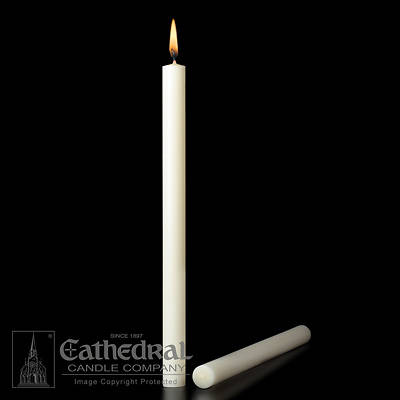 Cathedral 51% Beeswax Table Altar Candles - 1-15/16