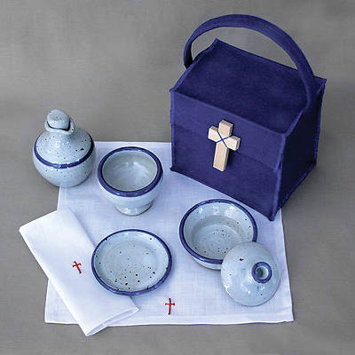 Communion Kit  Blue Fabric Deluxe