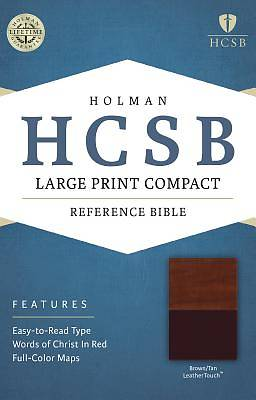 HCSB Large Print Compact Bible, Brown/Tan Leathertouch