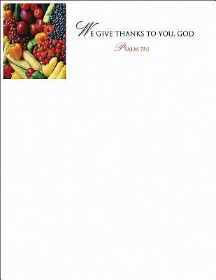 We Give Thanks/Thanksgiving Letterhead 2013 (Package of 50)