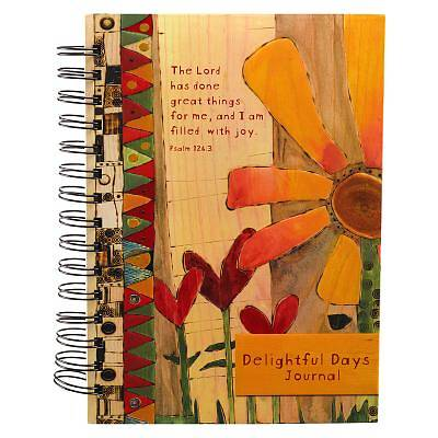 Journal Wirebound Large Flower Great Things