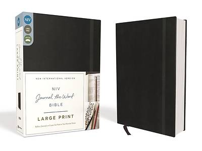 NIV, Journal the Word Bible, Large Print, Hardcover, Black