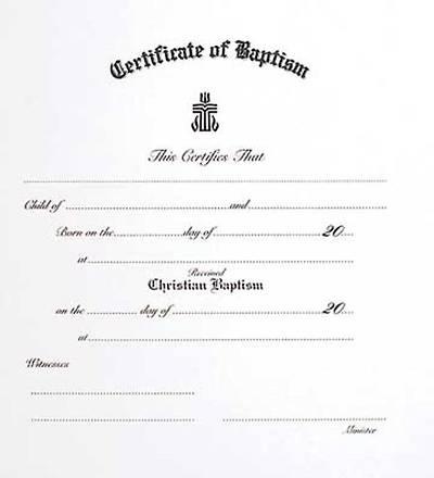 presbyterian childrens baptism certificate