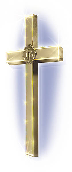 Hanging Lighted Cross