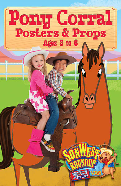 Gospel Light Vacation Bible School 2013 SonWest RoundUp Pony Corral Posters & Props