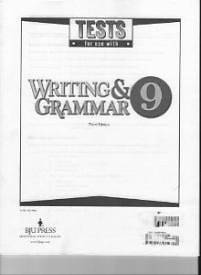 Writing and Grammar 9 Testpack 3rd Edition