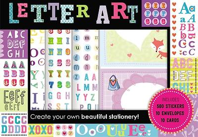 Letter Art Sticker and Note Box