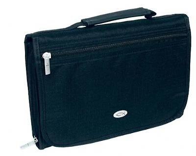 Bible Case Three Fold Black Medium