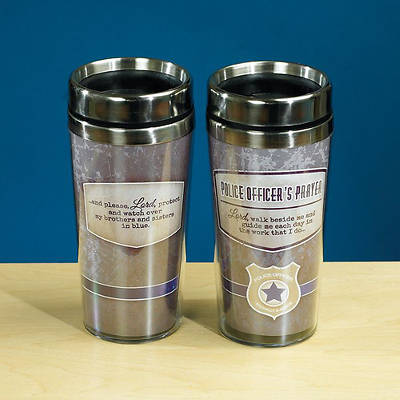 Police Officers Prayer Travel Tumbler