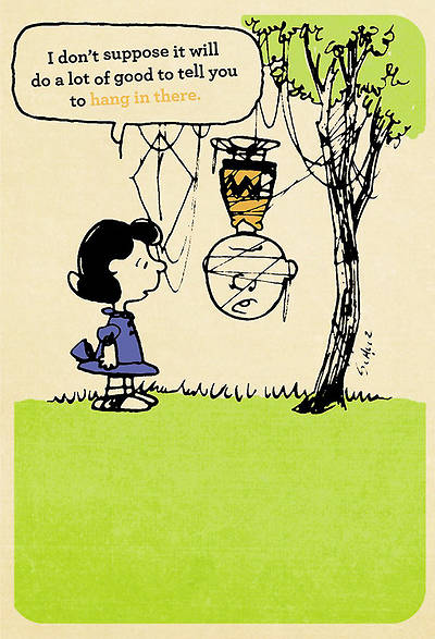 Peanuts Encouragement - Hang in There - 6 Premium Cards