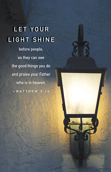 Let Your Light Shine Scripture Series Bulletin (Pkg of 50)